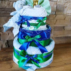 Plenkový dort modrý zelený
