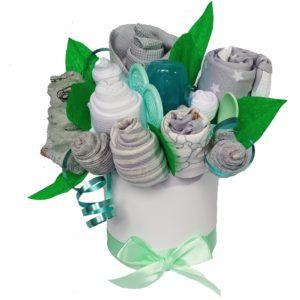 babydort flower box kytice k narození miminka